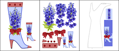 Birth Flower and Gem July Shaped Stand-up Boot Card