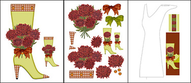 Birth Flower and November Shaped Stand-up Boot Card