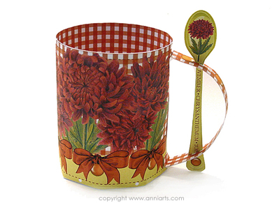 Anni Arts Luxury Printable Crafts Birth Flower and Gem November 3D Mug Set (now with Bonus Tray too)