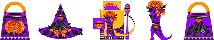 Anni Arts Fashionista Witch printable crafts