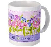 Anni Arts Birth Flower and Gem April Ceramic Mug