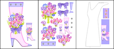 Birth Flower and Gem April Shaped Stand-up Boot Card