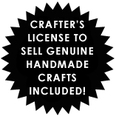 Anni Arts Crafters Handmade License Seal