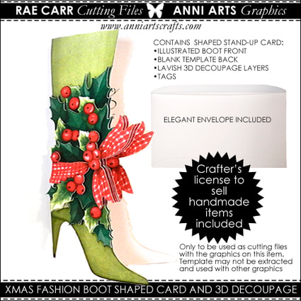 Anni Arts Xmas Boot Machine Cut Files